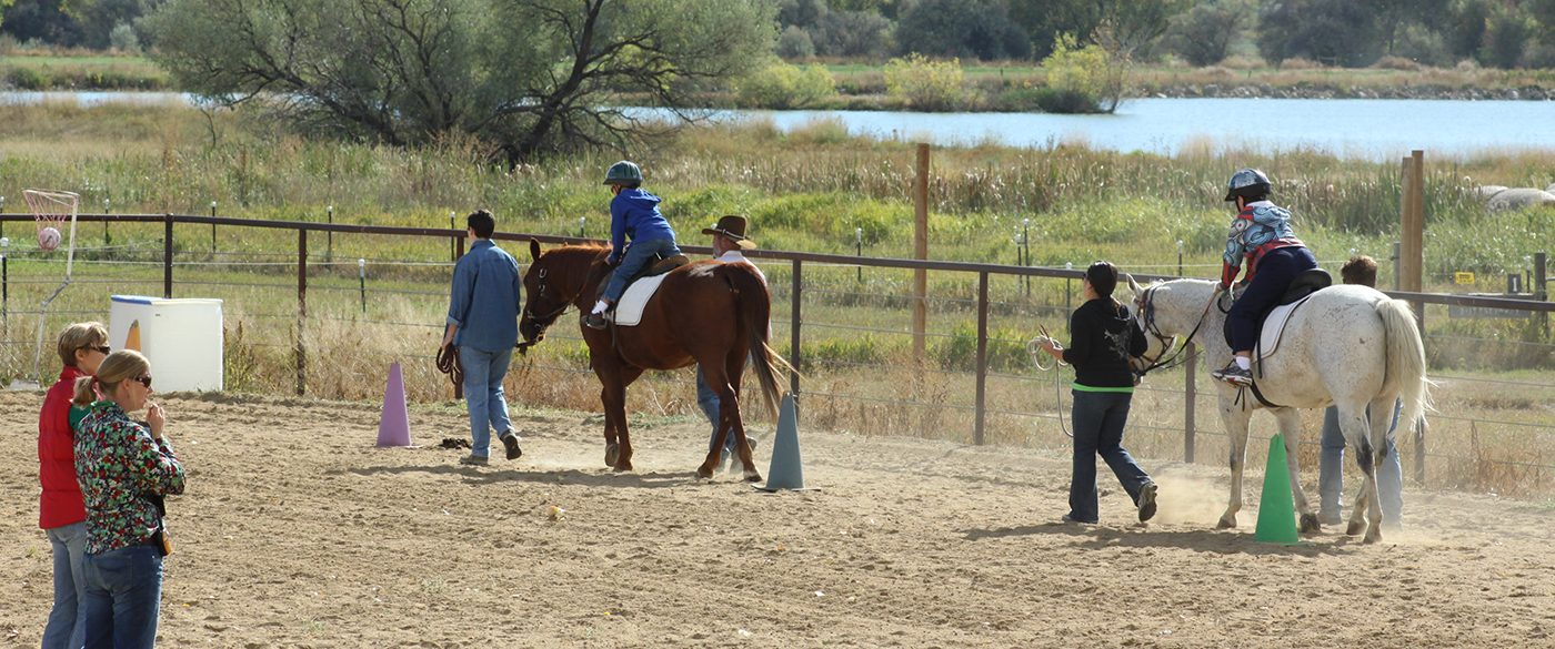 Children Take Part In Therapeutic Horseback Riding At The Colorado Therapeutic Riding Center In Longmont.