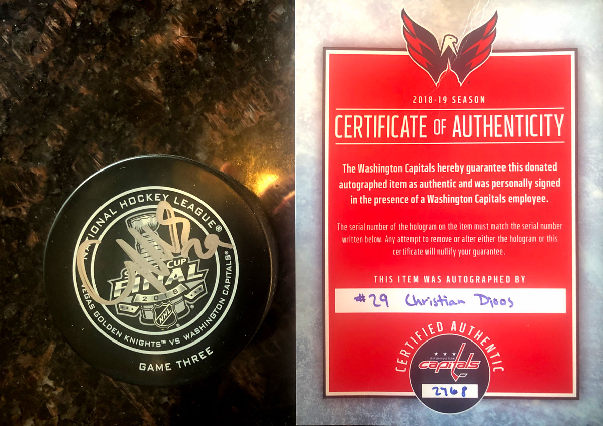 Christian Djoos Autographed Stanley Cup Final Game Puck